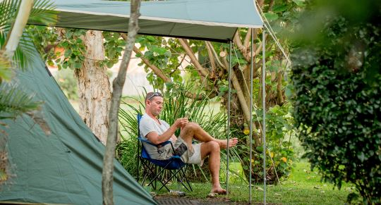 Camping at Cool bay South Africa
