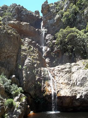 Steenbras Dam Waterfall